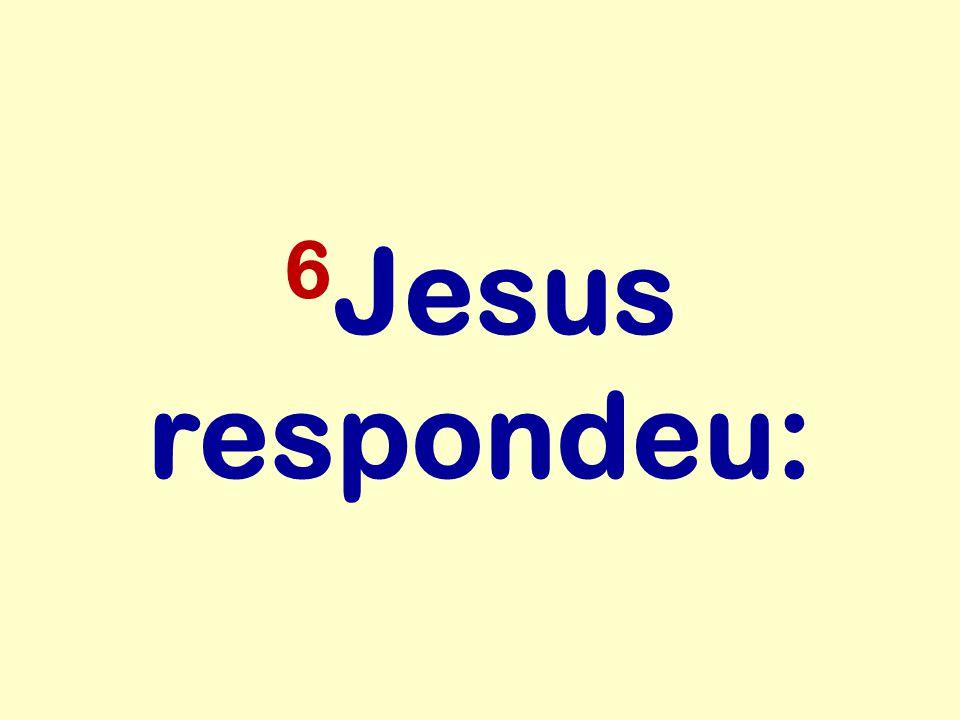 6Jesus respondeu: