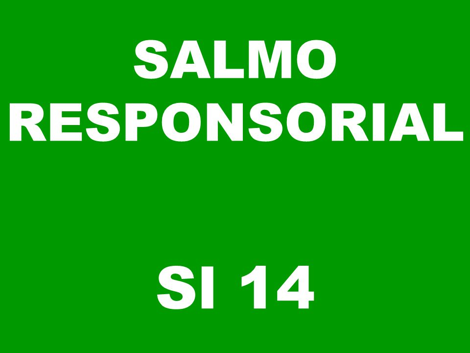 SALMO RESPONSORIAL Sl 14