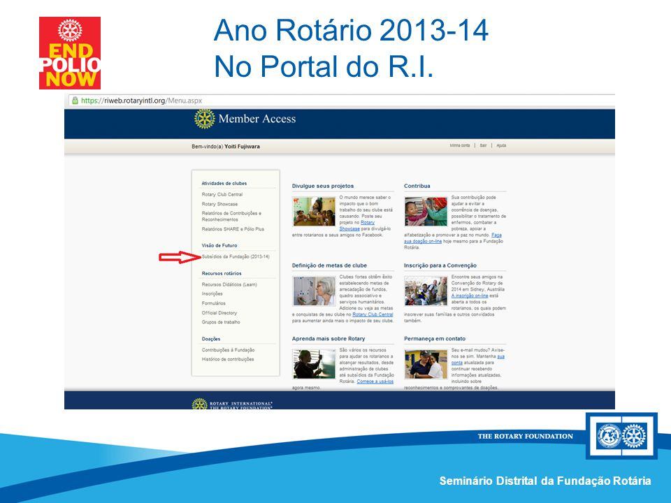 Ano Rotário 2013-14 No Portal do R.I.