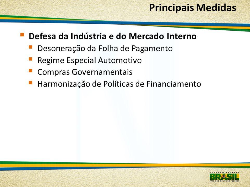 Principais Medidas Defesa da Indústria e do Mercado Interno