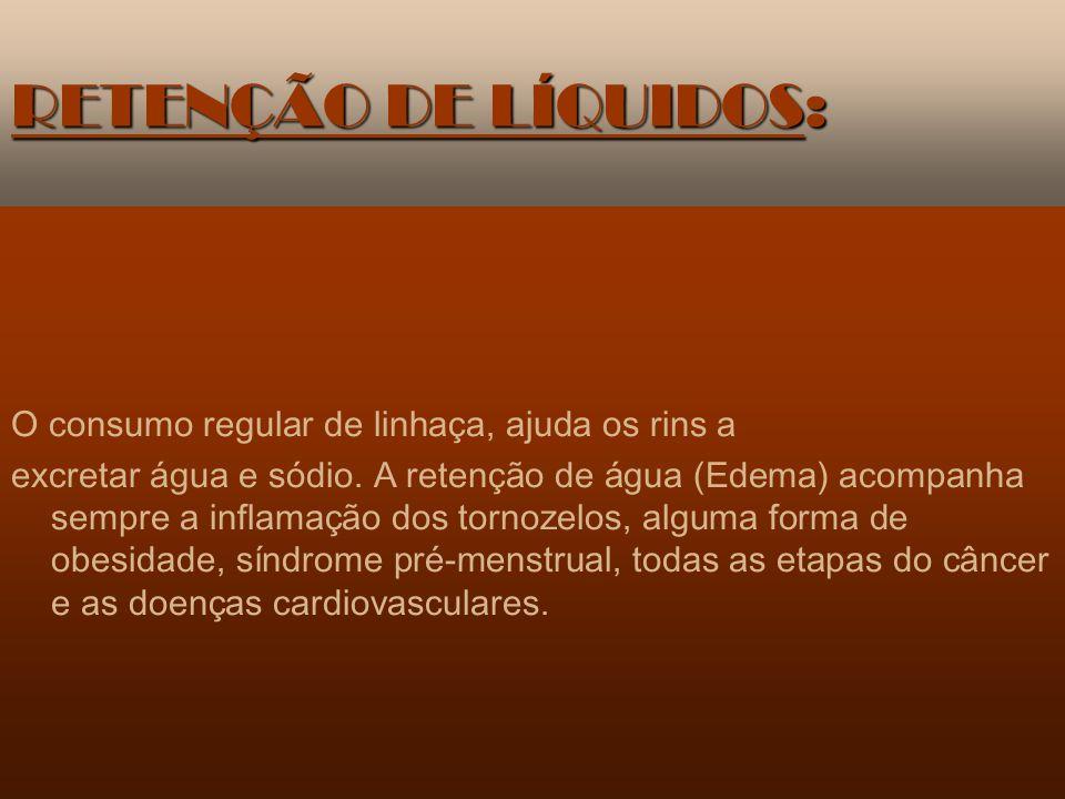 RETENÇÃO DE LÍQUIDOS: O consumo regular de linhaça, ajuda os rins a