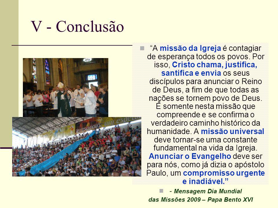 das Missões 2009 – Papa Bento XVI