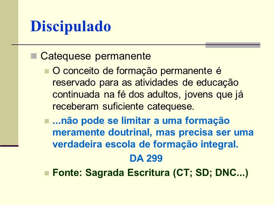 Discipulado Catequese permanente