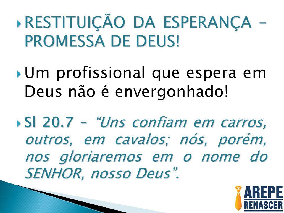 RESTITUIÇÃO DA ESPERANÇA – PROMESSA DE DEUS!