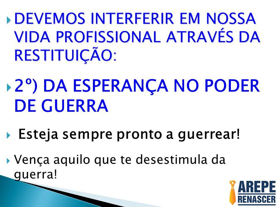 2º) DA ESPERANÇA NO PODER DE GUERRA