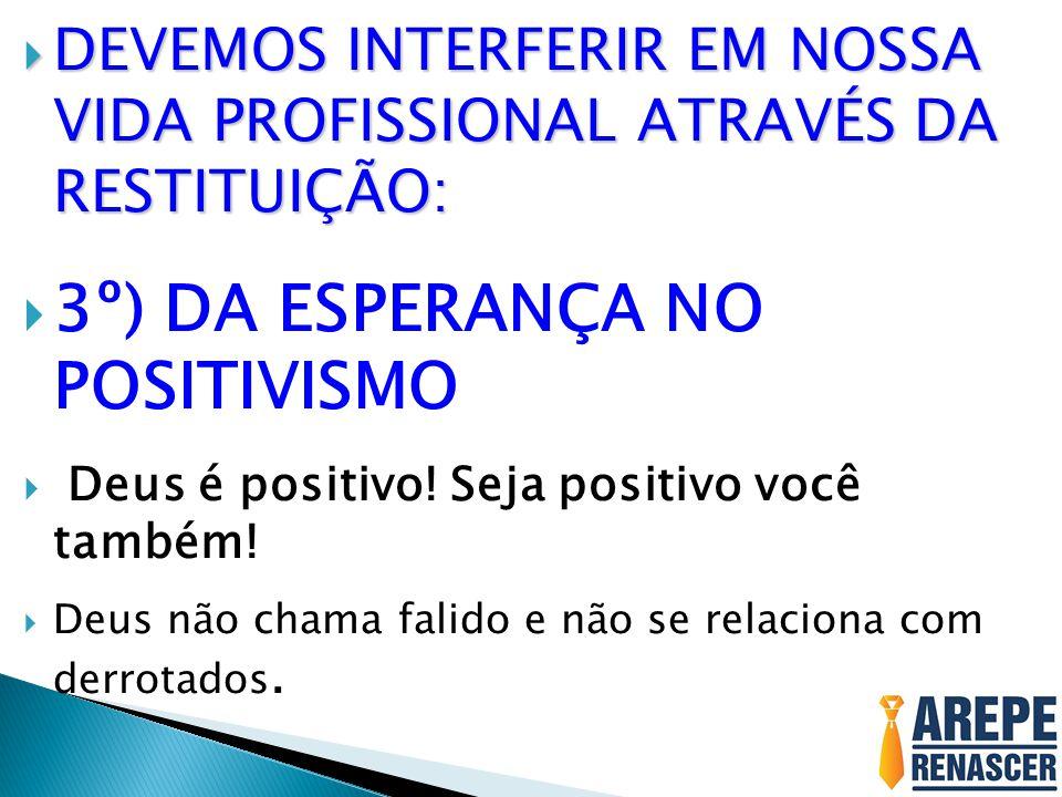 3º) DA ESPERANÇA NO POSITIVISMO
