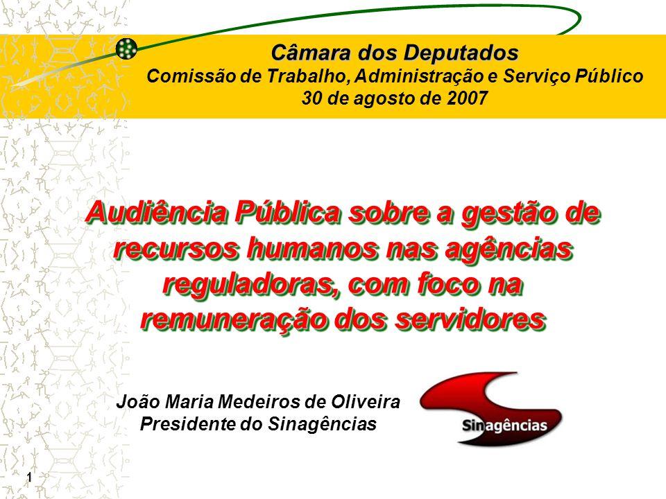 João Maria Medeiros de Oliveira Presidente do Sinagências