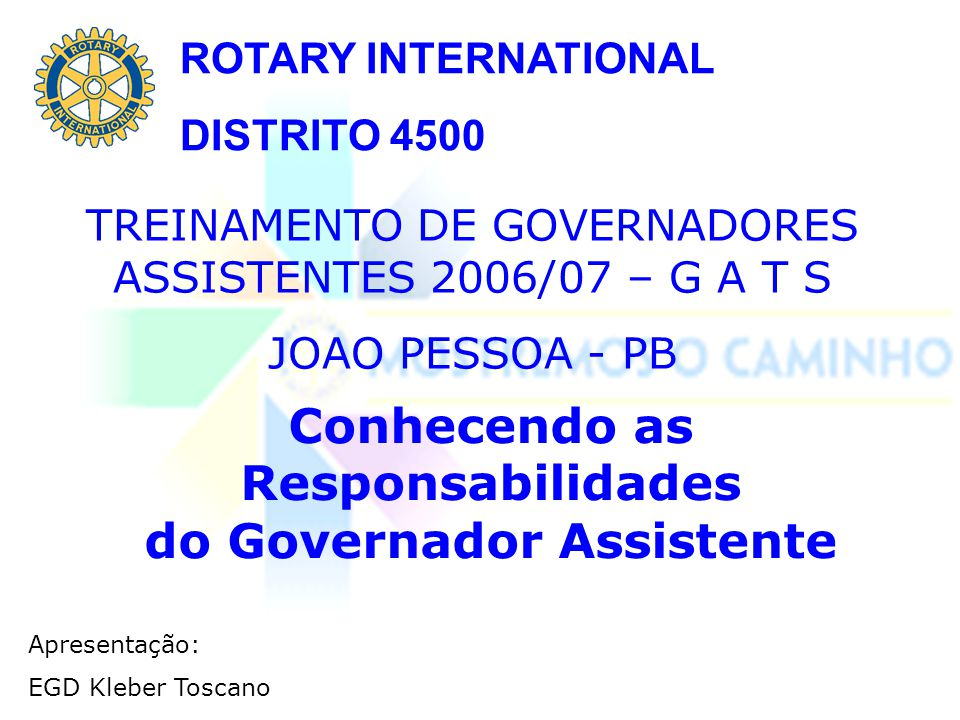 Conhecendo as Responsabilidades do Governador Assistente