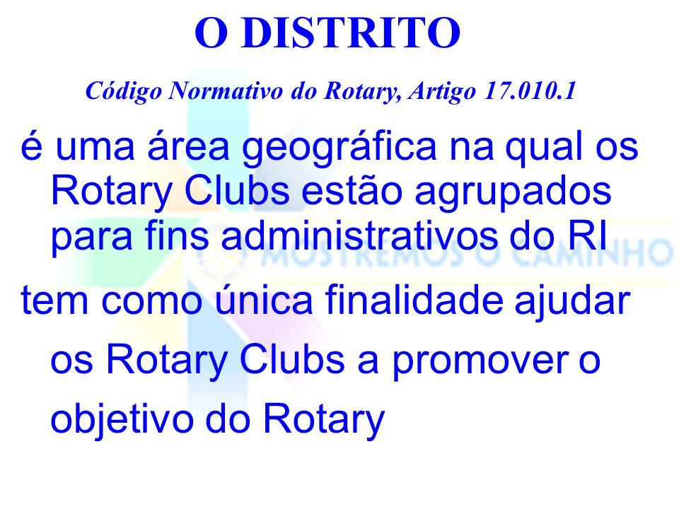 O DISTRITO Código Normativo do Rotary, Artigo 17.010.1.