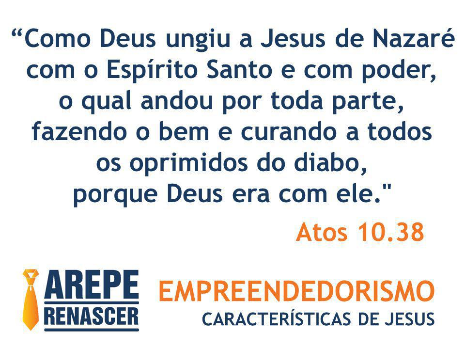 EMPREENDEDORISMO Como Deus ungiu a Jesus de Nazaré