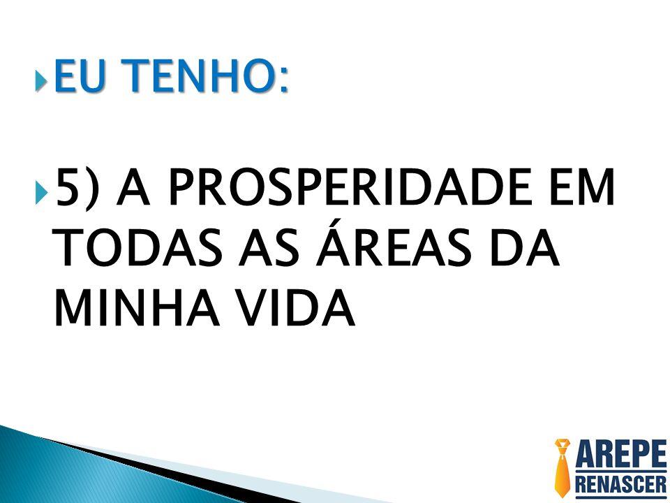 5) A PROSPERIDADE EM TODAS AS ÁREAS DA MINHA VIDA