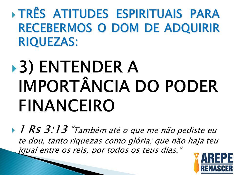 3) ENTENDER A IMPORTÂNCIA DO PODER FINANCEIRO