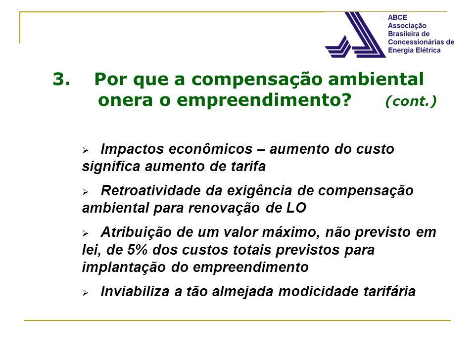 3. Por que a compensação ambiental onera o empreendimento (cont.)