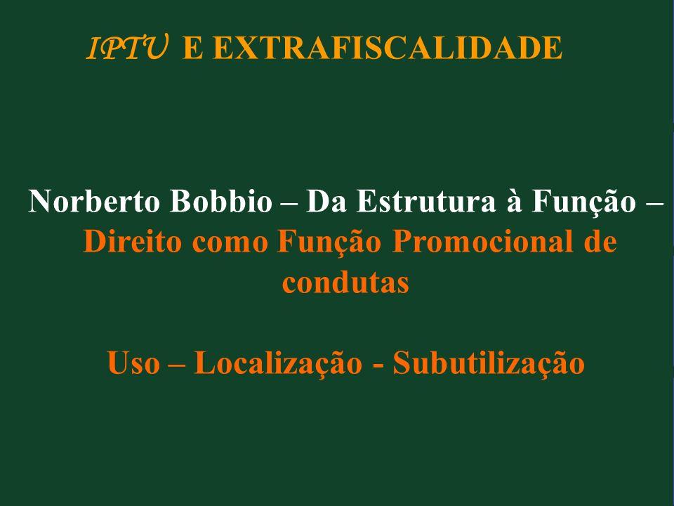 IPTU E EXTRAFISCALIDADE
