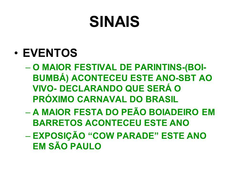 SINAIS EVENTOS. O MAIOR FESTIVAL DE PARINTINS-(BOI-BUMBÁ) ACONTECEU ESTE ANO-SBT AO VIVO- DECLARANDO QUE SERÁ O PRÓXIMO CARNAVAL DO BRASIL.