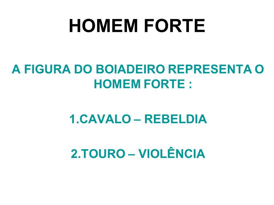 A FIGURA DO BOIADEIRO REPRESENTA O HOMEM FORTE :