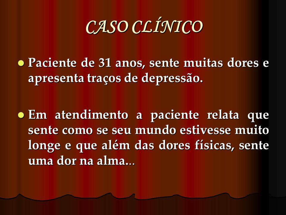 CASO CLÍNICO Paciente de 31 anos, sente muitas dores e apresenta traços de depressão.