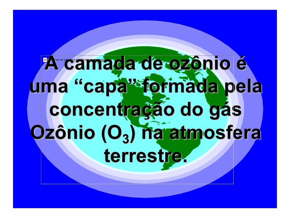 A camada de ozônio é uma capa formada pela concentração do gás Ozônio (O3) na atmosfera terrestre.