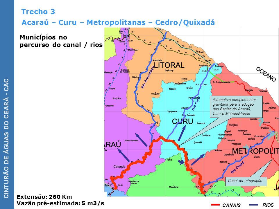 Acaraú – Curu – Metropolitanas – Cedro/Quixadá