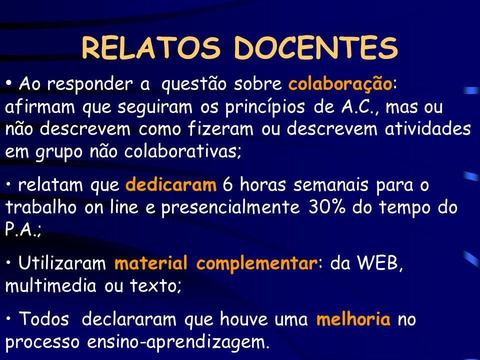 RELATOS DOCENTES
