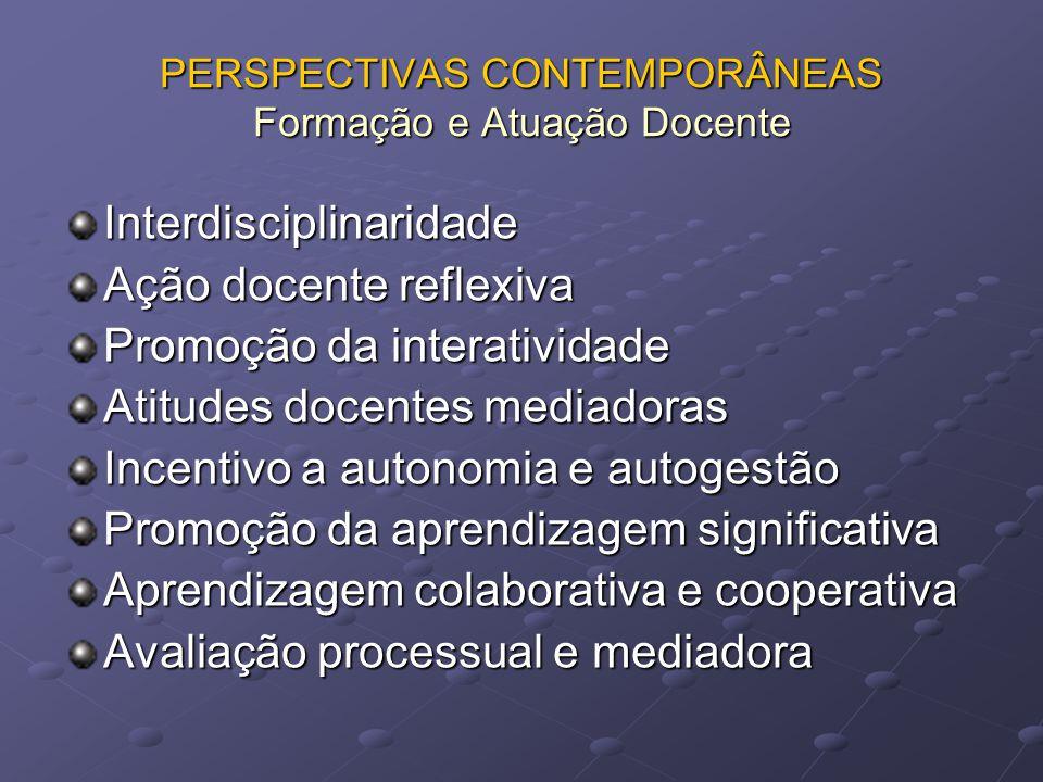 PERSPECTIVAS CONTEMPORÂNEAS Formação e Atuação Docente