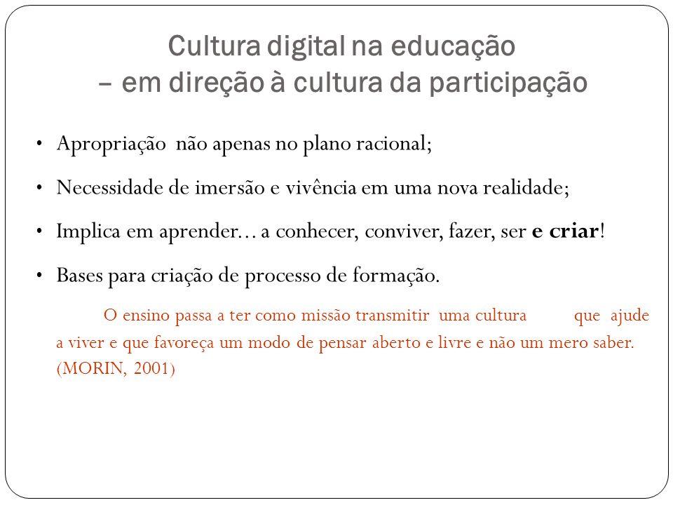Cultura digital na educação – em direção à cultura da participação