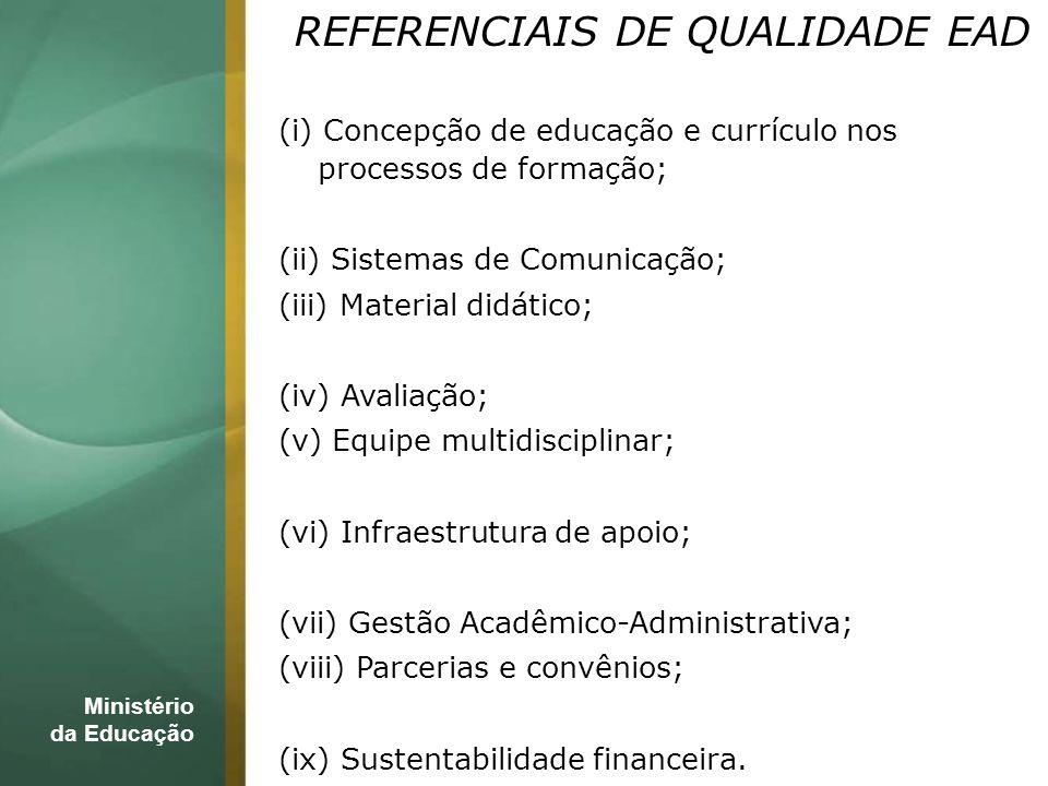 REFERENCIAIS DE QUALIDADE EAD