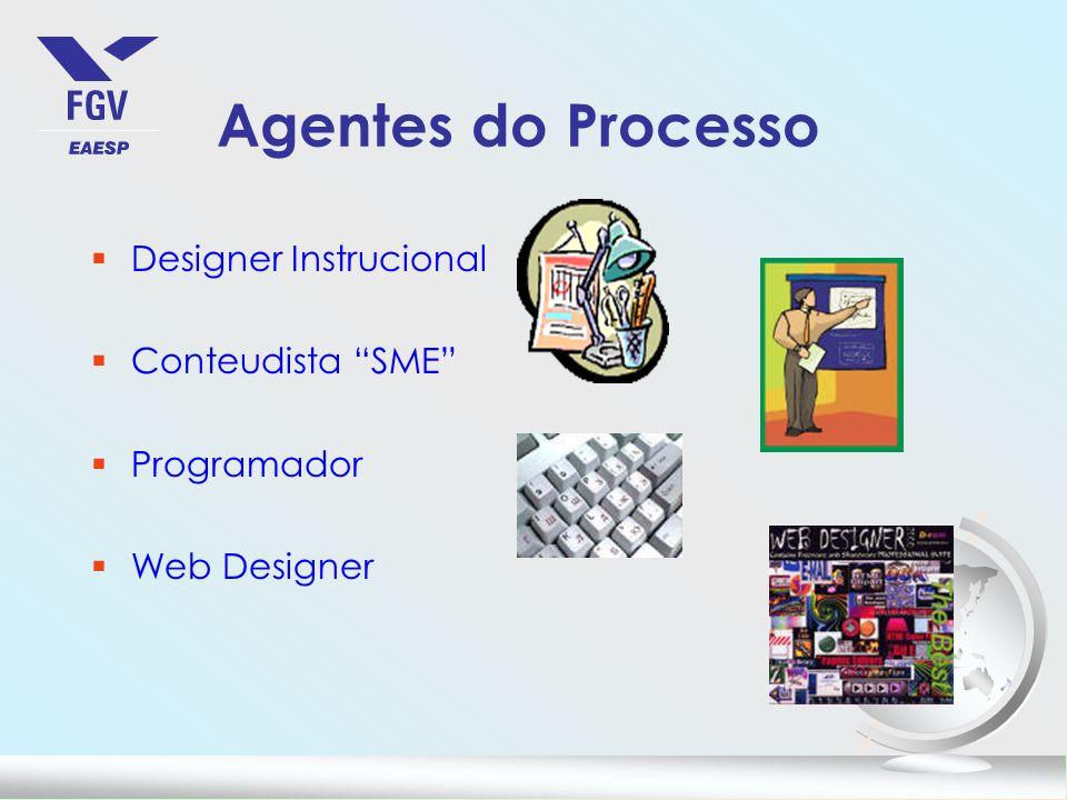 Agentes do Processo Designer Instrucional Conteudista SME