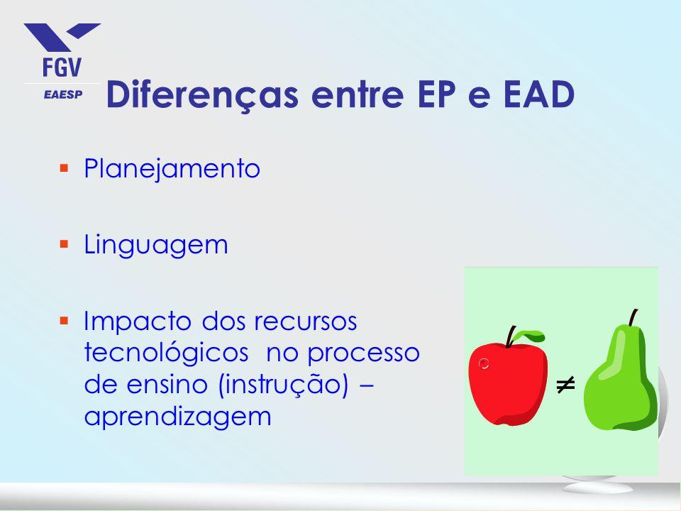 Diferenças entre EP e EAD