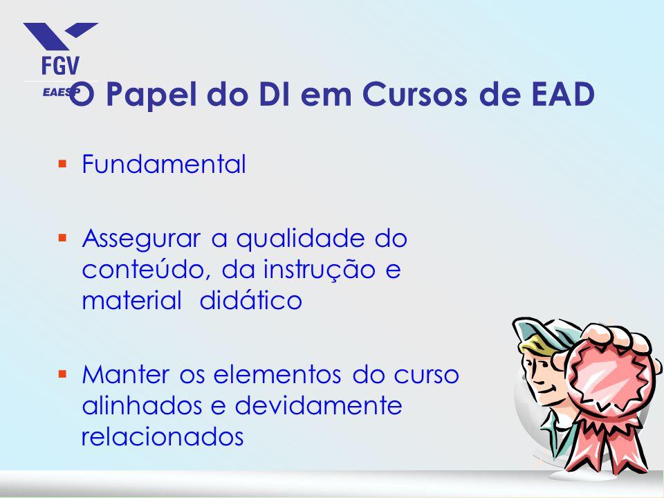 O Papel do DI em Cursos de EAD