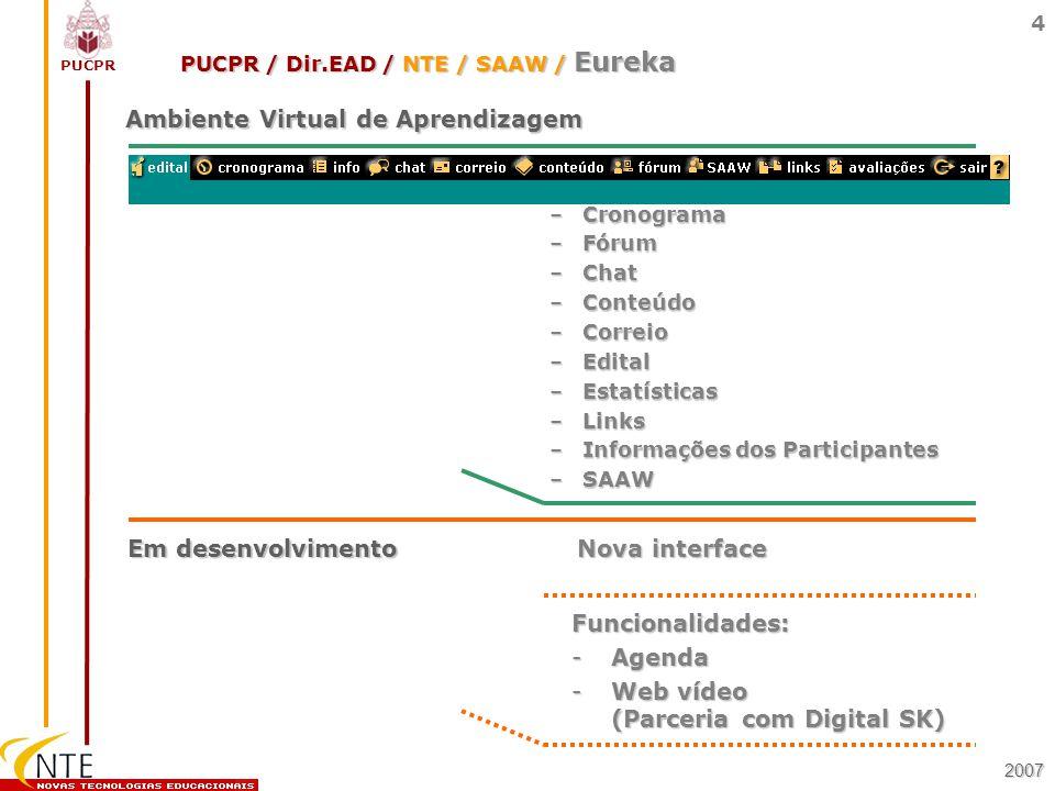 PUCPR / Dir.EAD / NTE / SAAW / Eureka