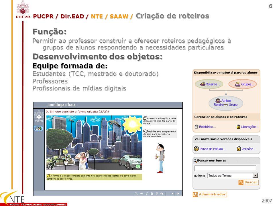 PUCPR / Dir.EAD / NTE / SAAW / Criação de roteiros