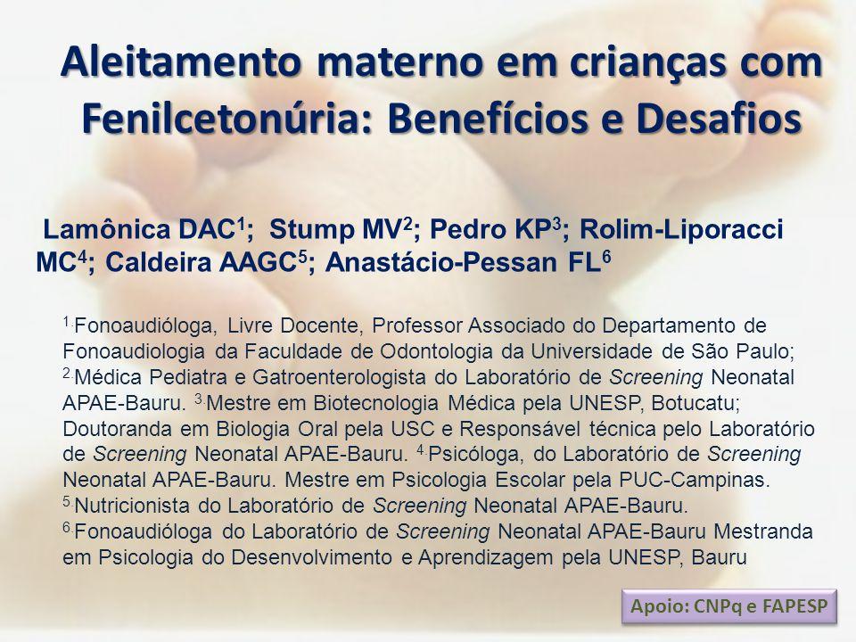 Aleitamento materno em crianças com Fenilcetonúria: Benefícios e Desafios