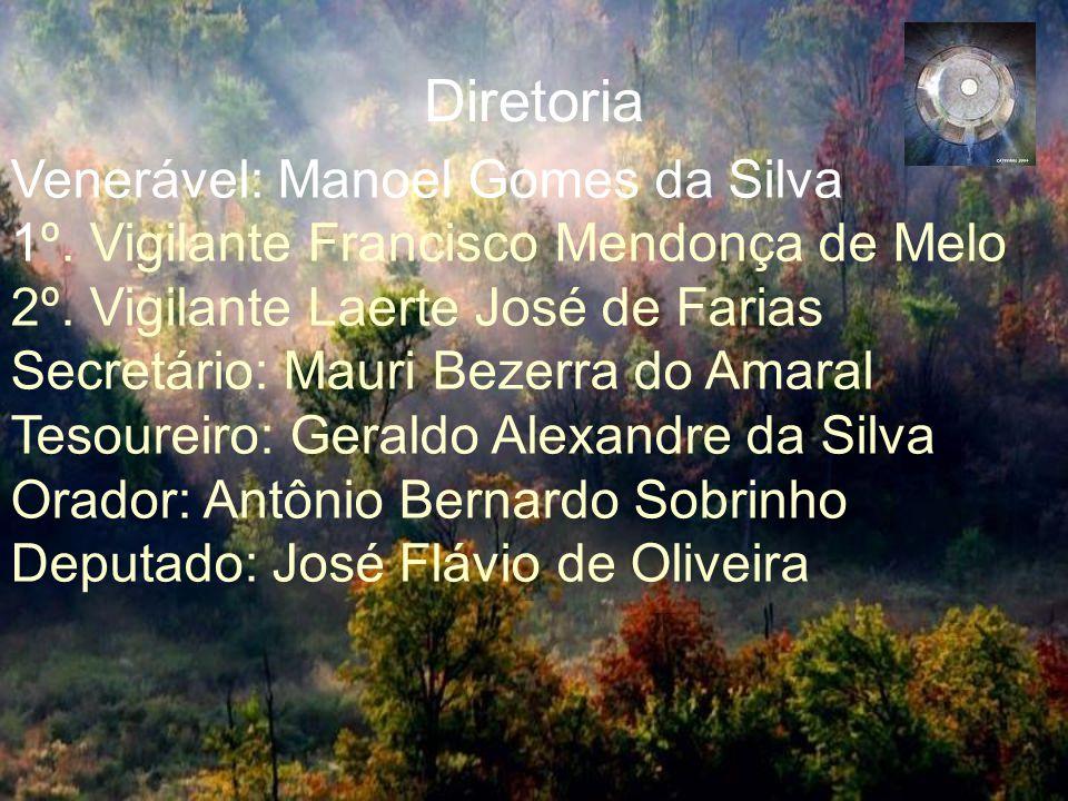 Diretoria Venerável: Manoel Gomes da Silva