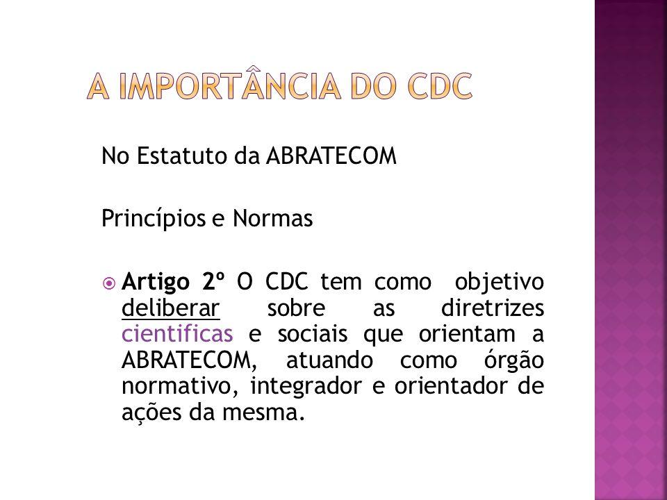 A importância do CDC No Estatuto da ABRATECOM Princípios e Normas