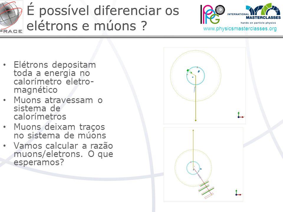 É possível diferenciar os elétrons e múons