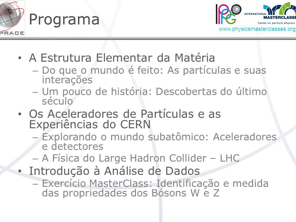 Programa A Estrutura Elementar da Matéria