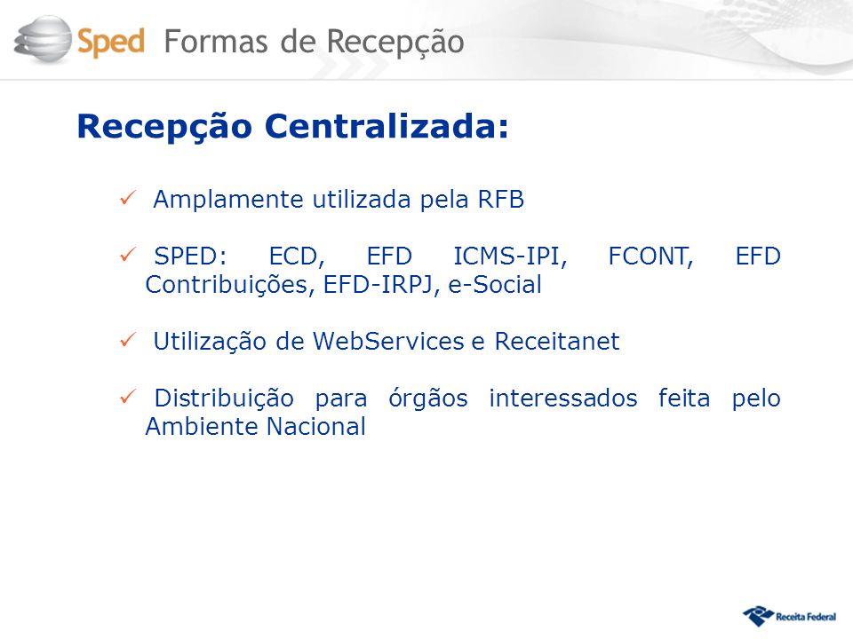 Recepção Centralizada: