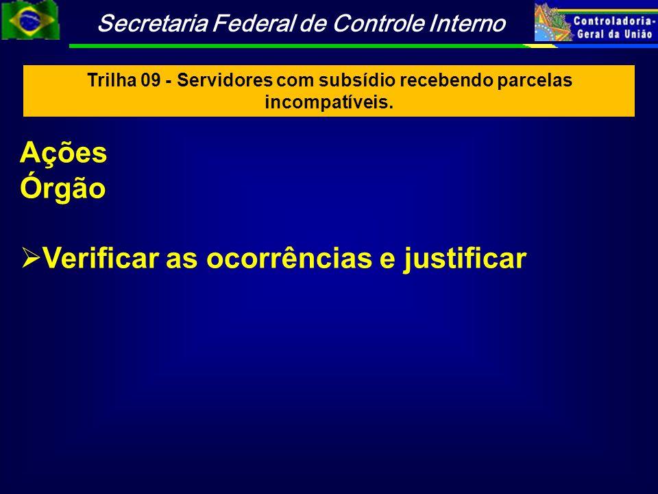 Trilha 09 - Servidores com subsídio recebendo parcelas incompatíveis.