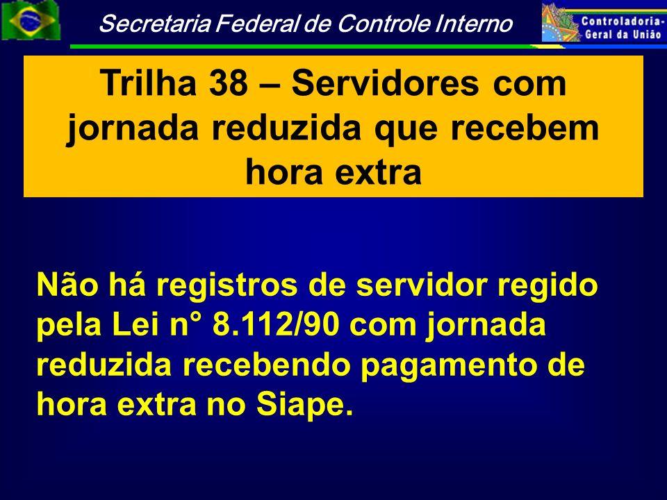Trilha 38 – Servidores com jornada reduzida que recebem hora extra