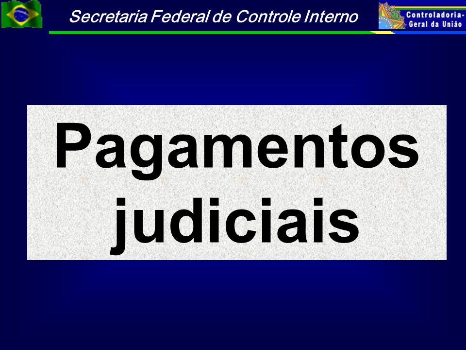 Pagamentos judiciais