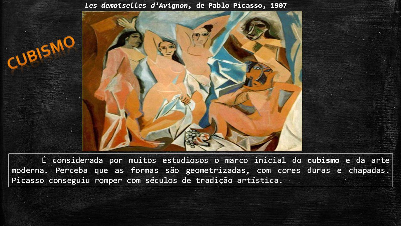 cubismo Les demoiselles d'Avignon, de Pablo Picasso, 1907