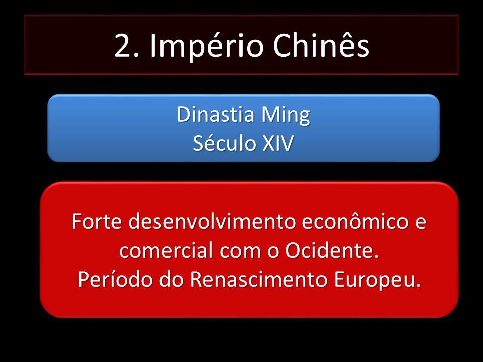 2. Império Chinês Dinastia Ming Século XIV