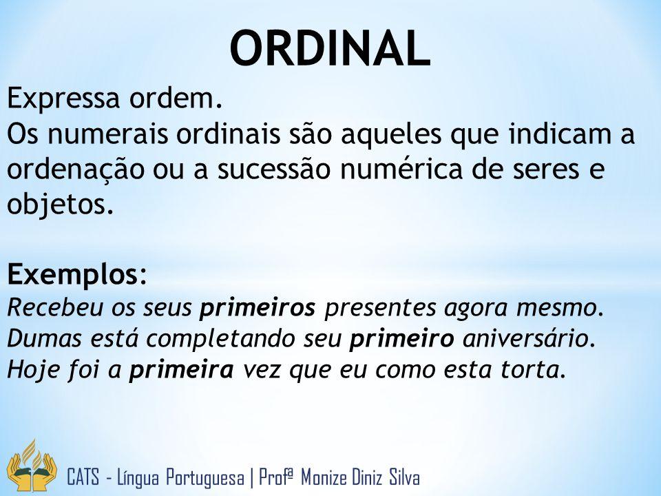 ORDINAL Expressa ordem.