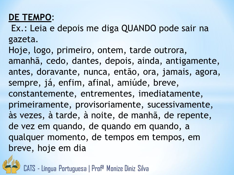 DE TEMPO: