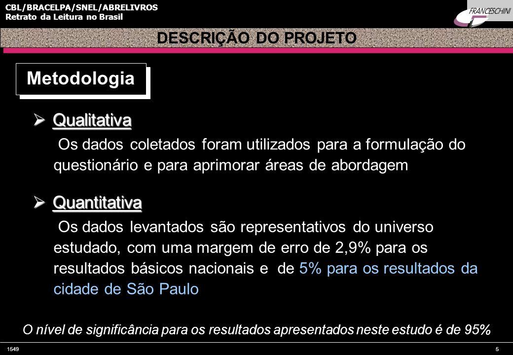 Metodologia Qualitativa Quantitativa DESCRIÇÃO DO PROJETO