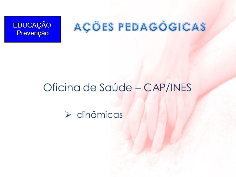 AÇÕES PEDAGÓGICAS dinâmicas Oficina de Saúde – CAP/INES EDUCAÇÃO