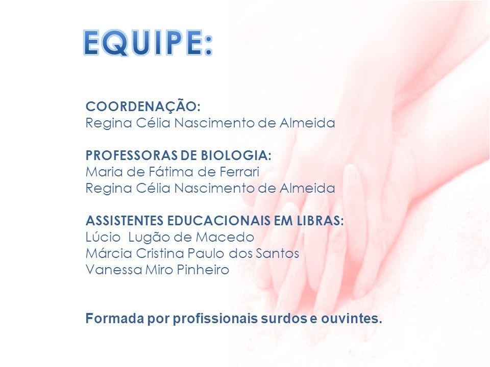 EQUIPE: COORDENAÇÃO: Regina Célia Nascimento de Almeida