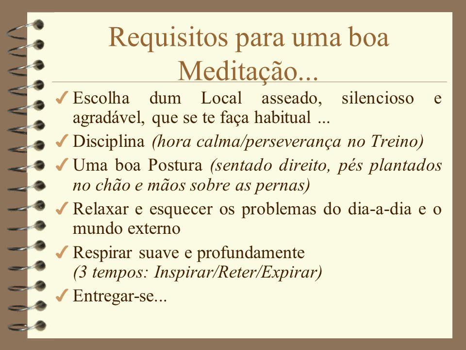 Requisitos para uma boa Meditação...
