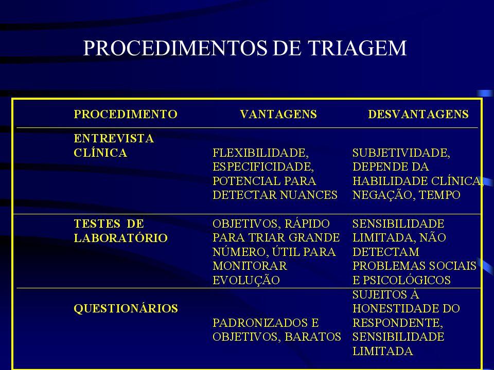 PROCEDIMENTOS DE TRIAGEM